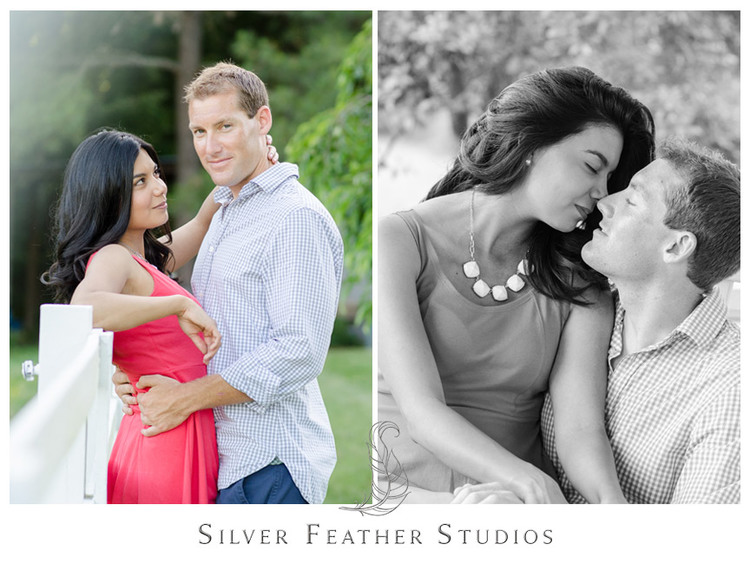 Sam and Ben's Chapel Hill Countryside Engagement Session. © Silver Feather Studios, North Carolina Wedding Photography & Videography