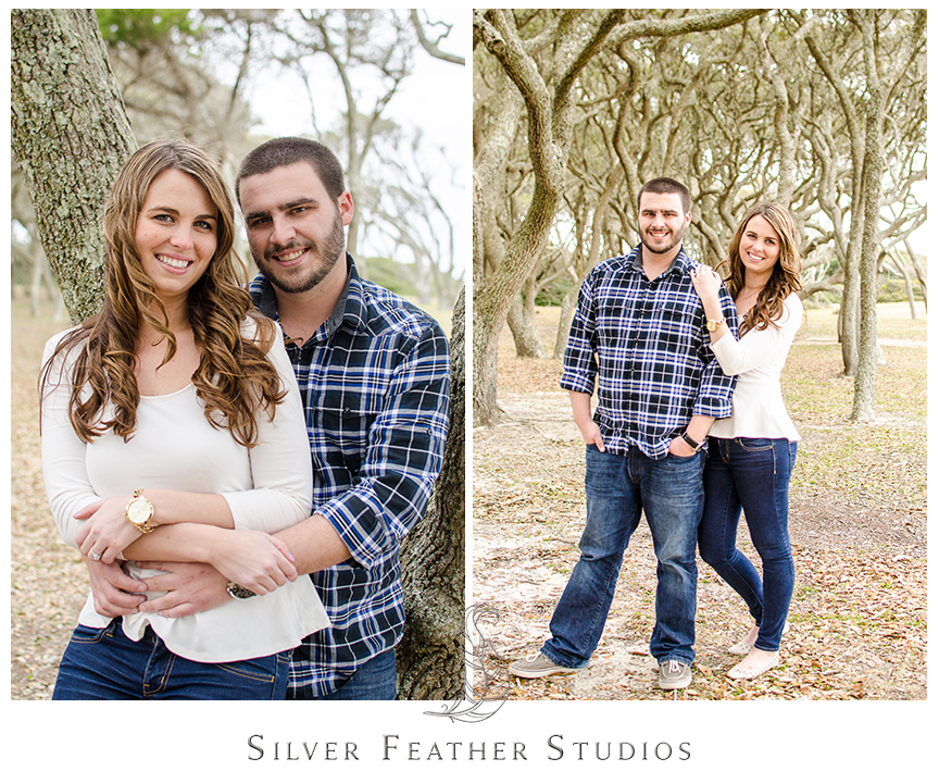 Sneak peek of Jessica and Andrew's Fort Fisher engagement session. © Silver Feather Studios, North Carolina Wedding Photography and Cinematography