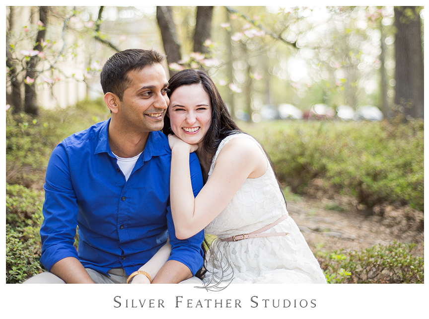 Madison and Harsh look fabulous at their UNC Chapel Hill engagement session. © Silver Feather Studios, Chapel Hill Wedding Photography & Cinematography