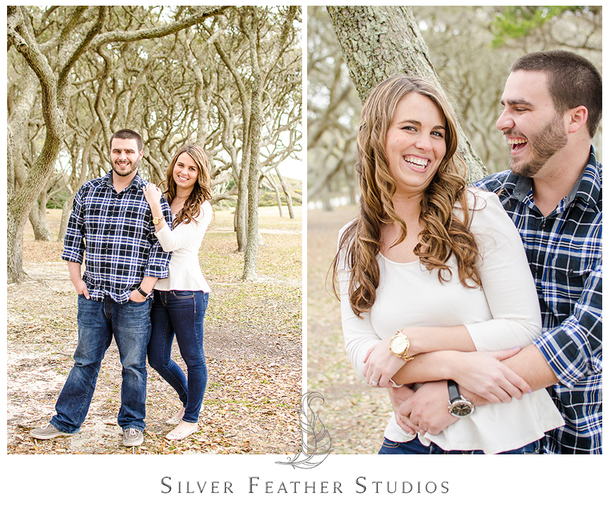 Jessica and Andrew's engagement session at Fort Fisher in Kure Beach, NC. © Silver Feather Studios, Burlington, NC Wedding photography and cinematography.