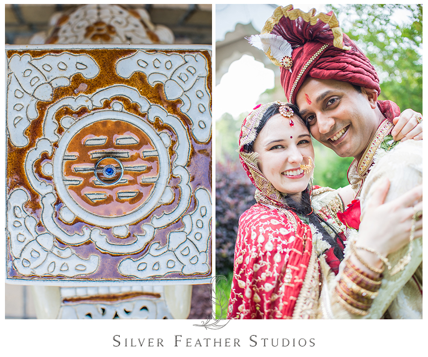Traditional Indian ceremony at the Hindu Society of North Carolina in Raleigh, NC. © Silver Feather Studios, Raleigh Wedding Photography and Videography