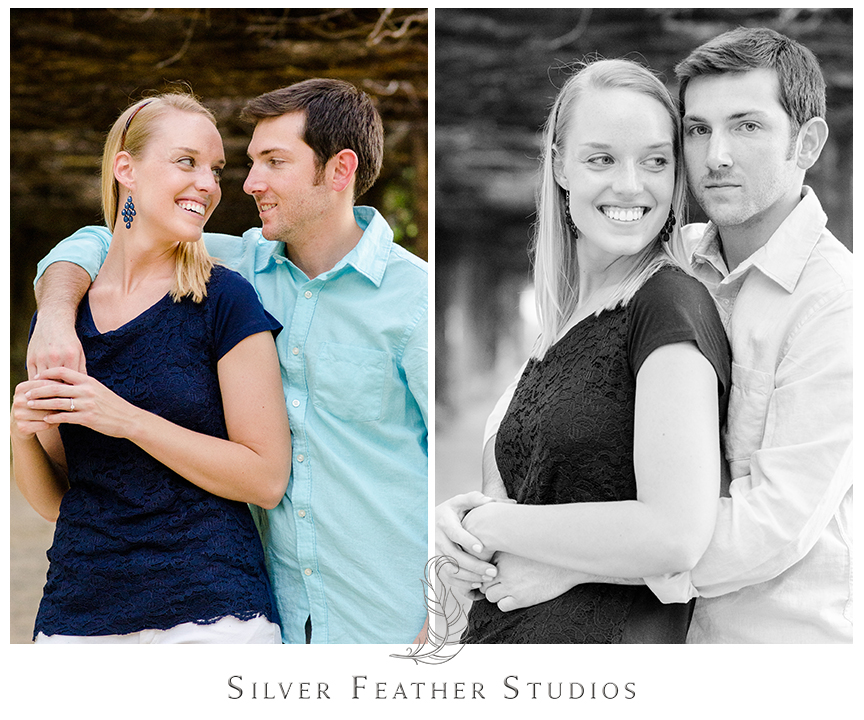 engagement session at the coker arboretum, wedding photography in chapel hill.