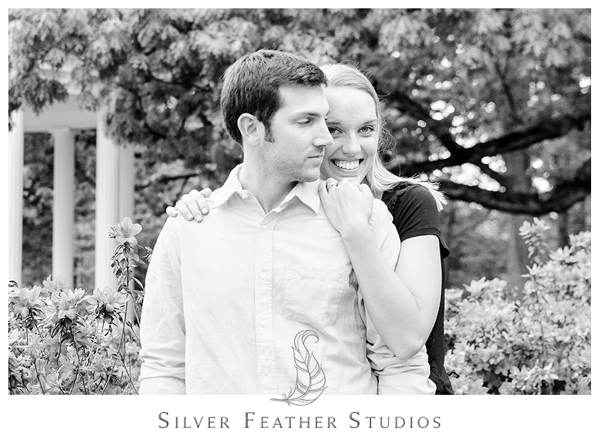 old well, unc chapel hill engagement session, wedding videographers in chapel hill.