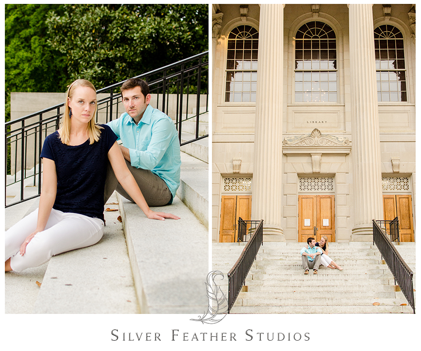 erin and jacob at unc, modern engagement photography, chapel hill wedding photographers.