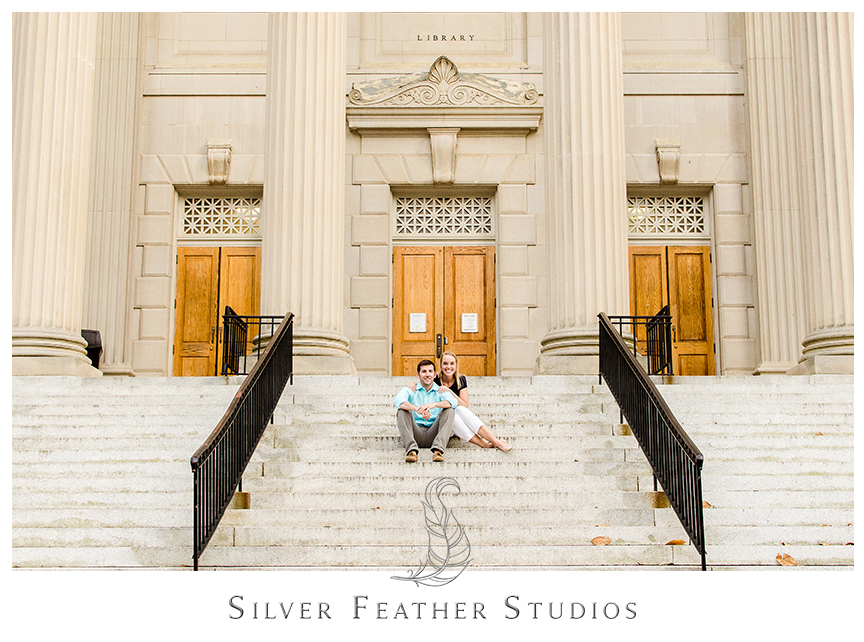 Fun and modern engagement session in Chapel Hill, North Carolina, by Silver Feather STudios.