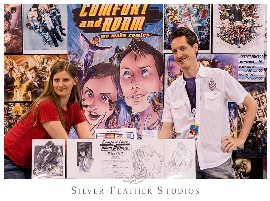 Comfort and Adam at the Heroes Convention 2014, Charlotte Convention Center. © Silver Feather Studios