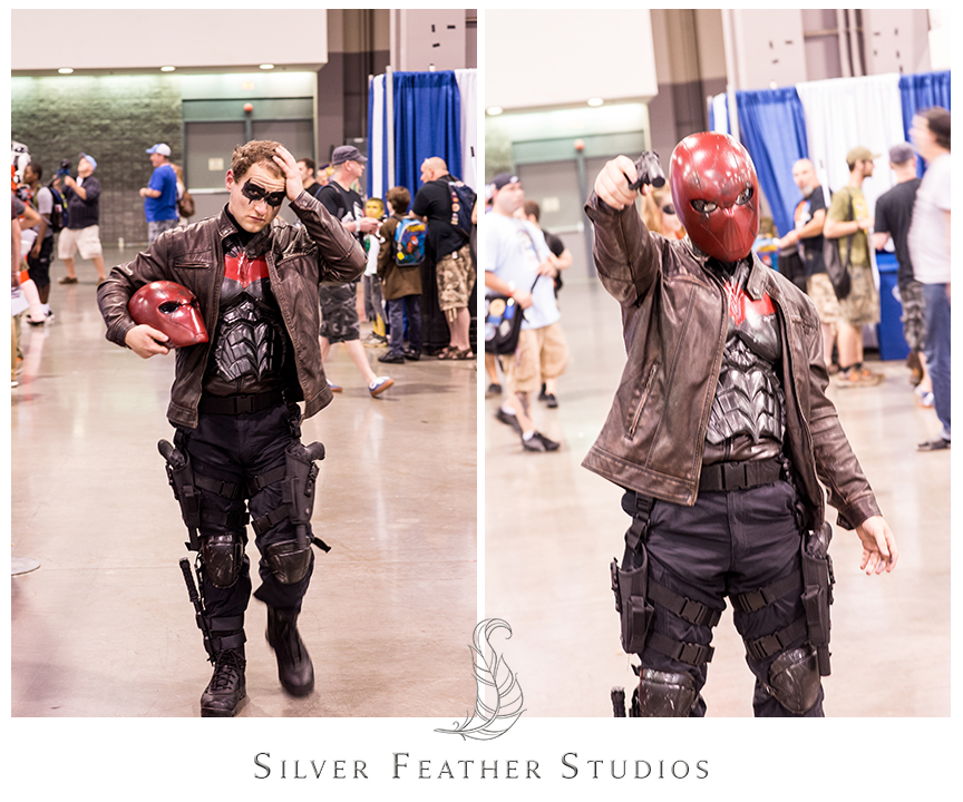 Awesome superhero cosplay at HeroesCon 2014. © Silver Feather Studios, the nerdiest wedding photographers ever.