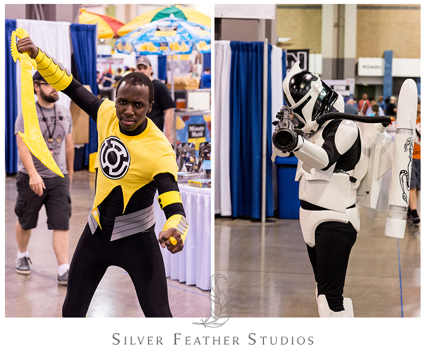 So many fantastic cosplayers at the2014 Heroes Convention in Charlotte, NC.© Silver Feather Studios, the nerdiest wedding photographers ever.