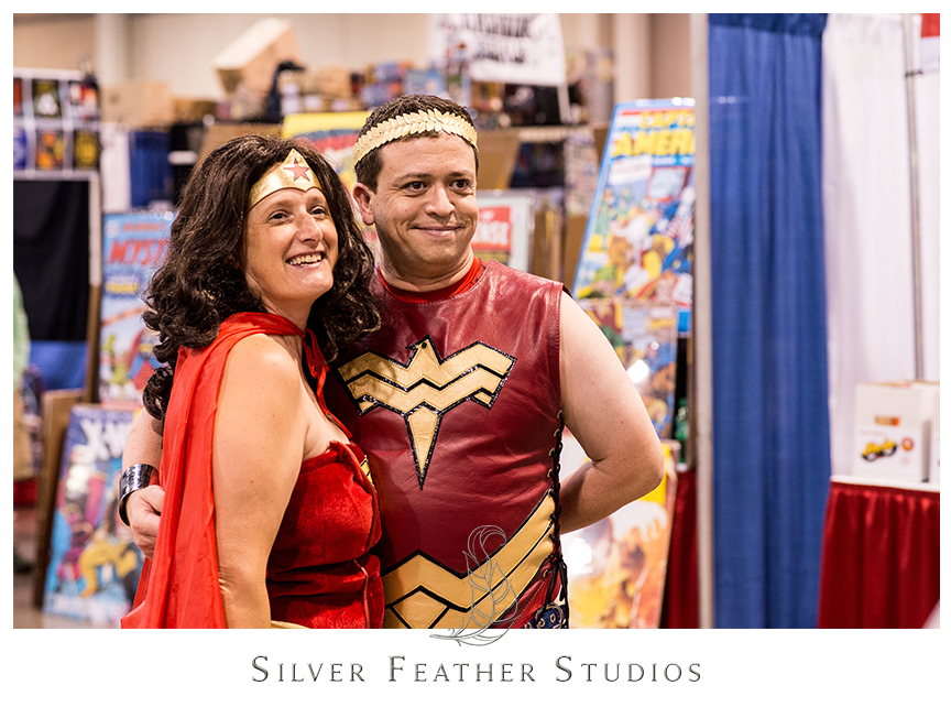 Old people cosplay too! The 2014 Heroes Convention in Charlotte, NC.© Silver Feather Studios, the geekiest wedding photographers ever.