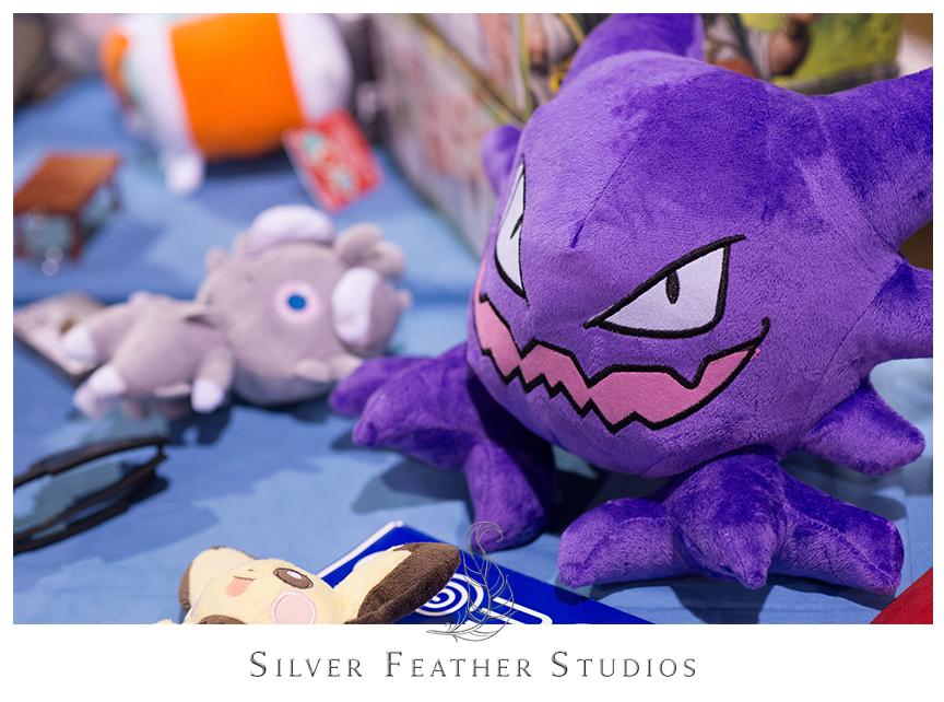 Awesome Gengar Pokemon plushie at the 2014 Heroes Convention in Charlotte, North Carolina. © Silver Feather Studios, Geeky Wedding Photographers in NC