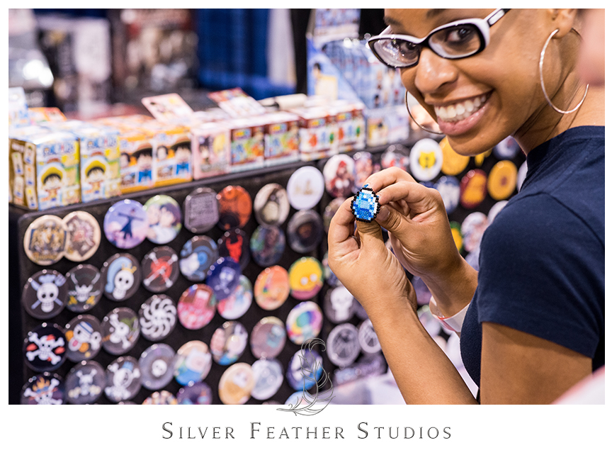 """Minecraft puts a whole new spin on the """"diamond ring"""" at HeroesCon 2014 in Charlotte, NC. © Silver Feather Studios"""
