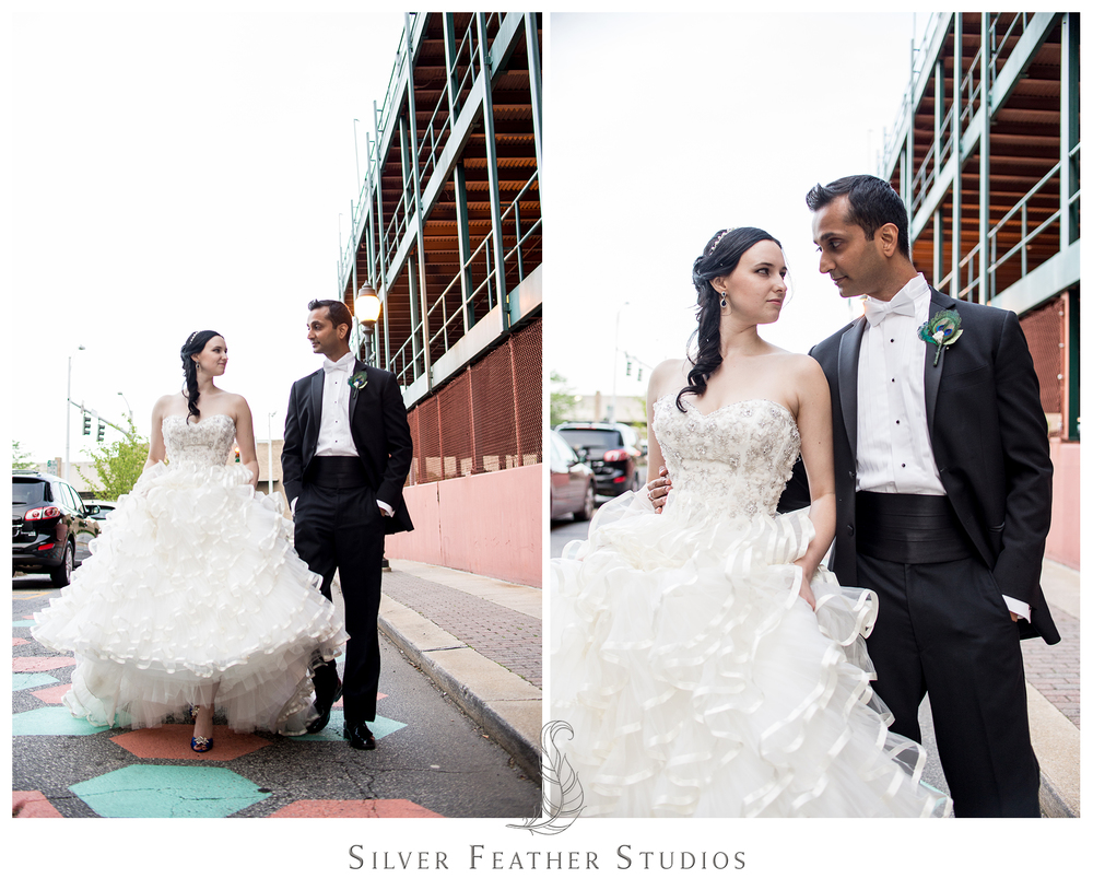 Madison and Harsh's Empire Room Wedding in downtown Greensboro. Photographed by Silver Feather Studios, a wedding photography and videography company in Burlington, North Carolina.