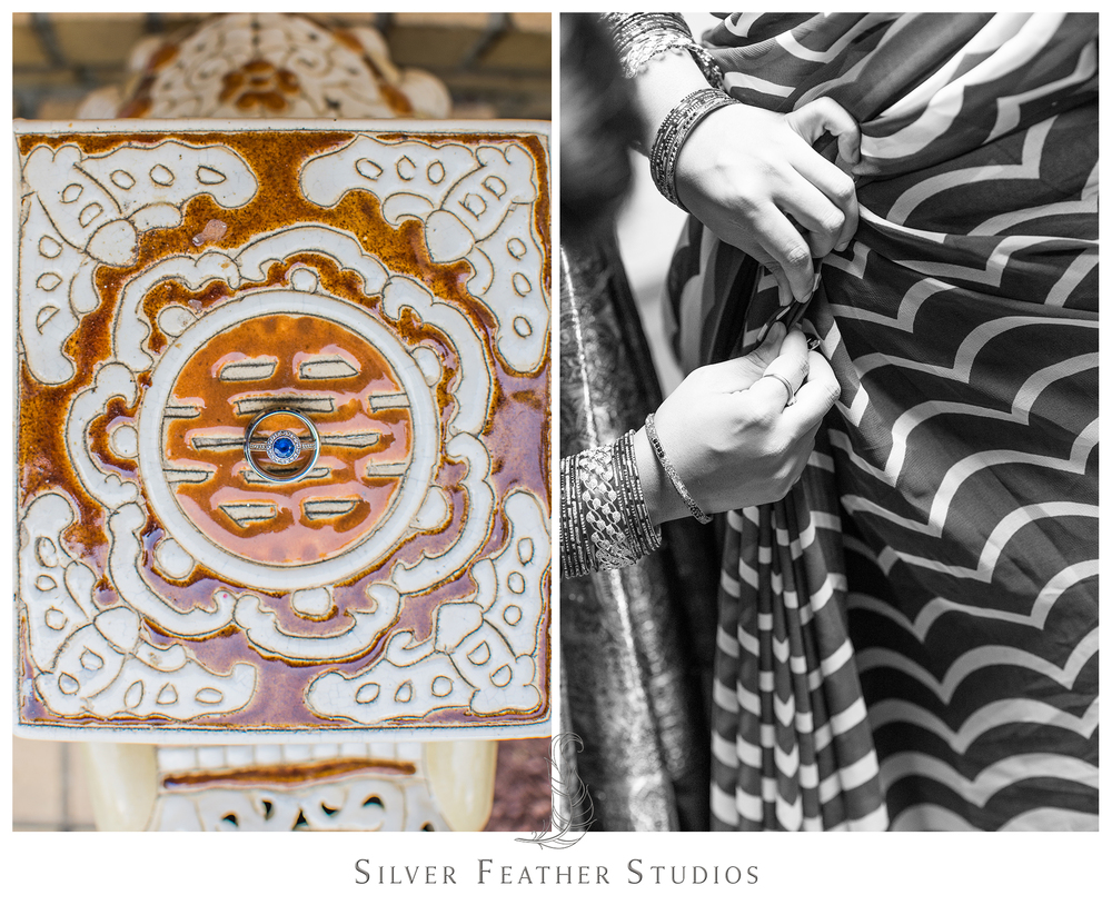 Traditional Indian wedding in Raleigh, North Carolina, photographed by Silver Feather Studios.