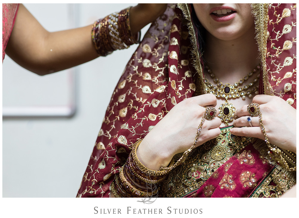 Madison and Harsh's Indian wedding. photographed by raleigh wedding photographers.