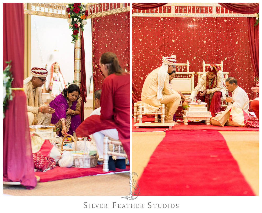Lots of vibrant colors at this colorful and beautiful traditional Hindu ceremony.