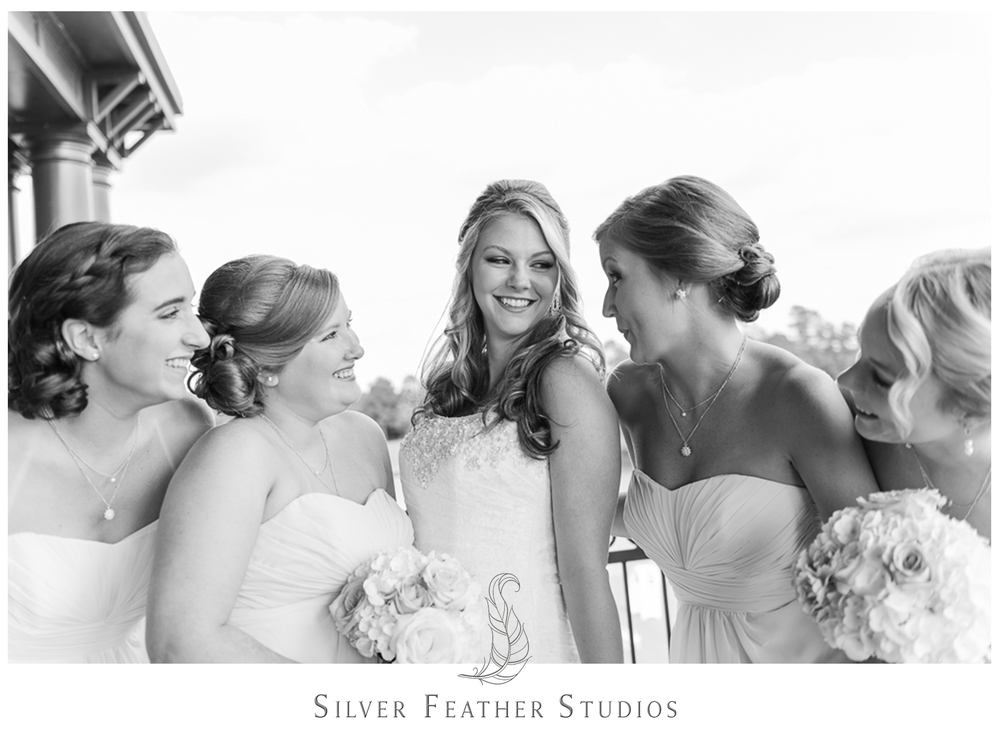 Fun wedding photography by Burlington company Silver Feather Studios.