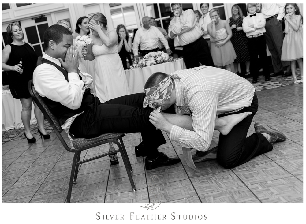 Hilarious images from Burlington, NC wedding photography and videography company, Silver Feather Studios.