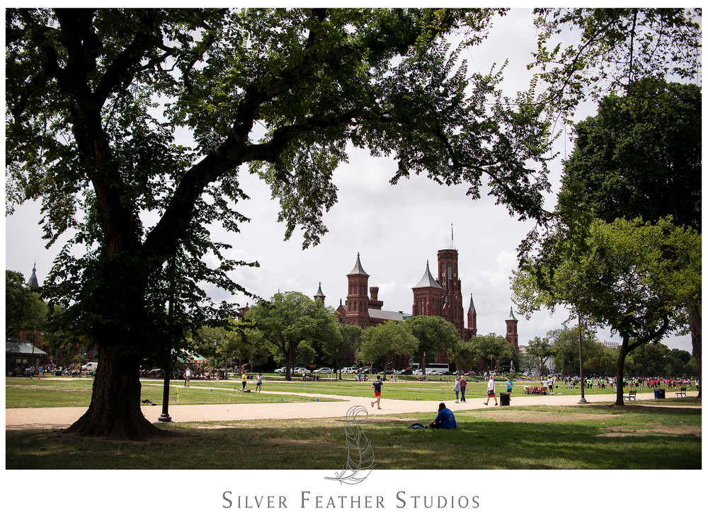 Gorgeous view of the Smithsonian Castle in Washington. © Silver Feather Studios
