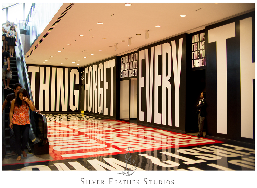 Barbara Kruger's Belief and Doubt exhibit at the Hirshhorn Museum.