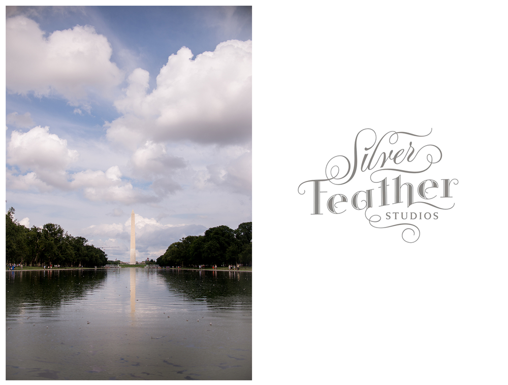 The Washington Monument overlooking the reflection pool. © Silver Feather Studios