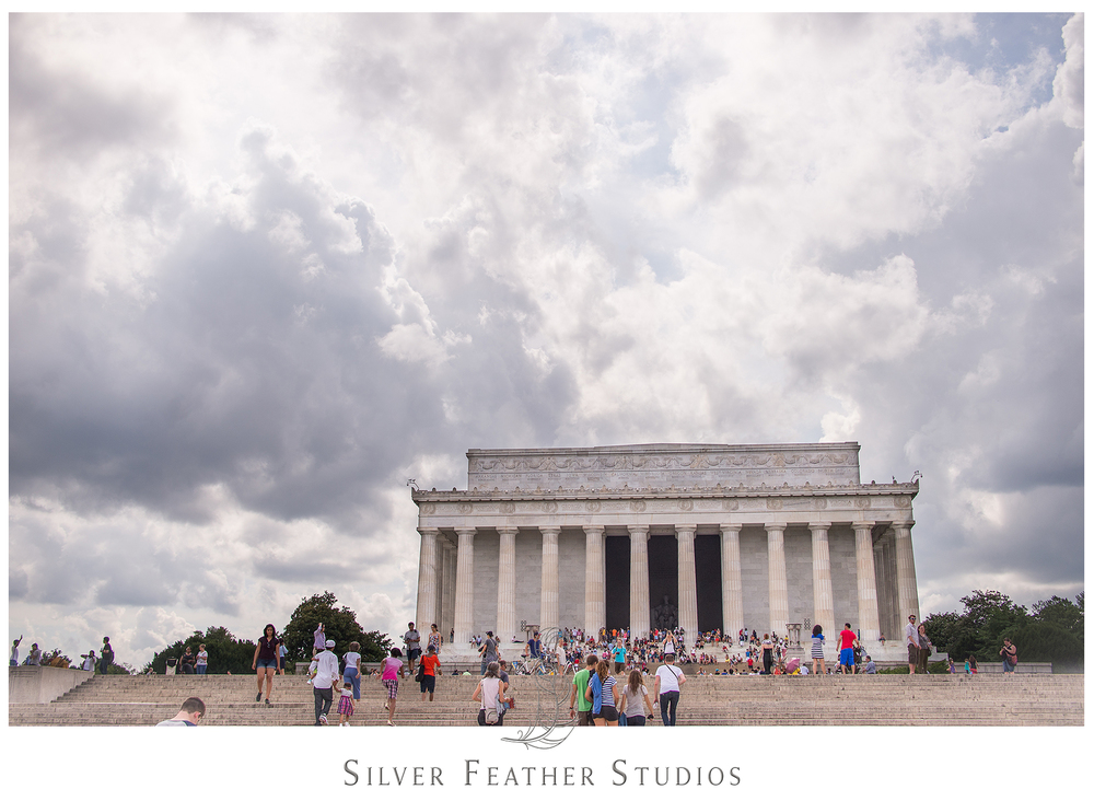 Ariana Watts of Silver Feather Studios documents the Lincoln Memorial in Washington D.C.