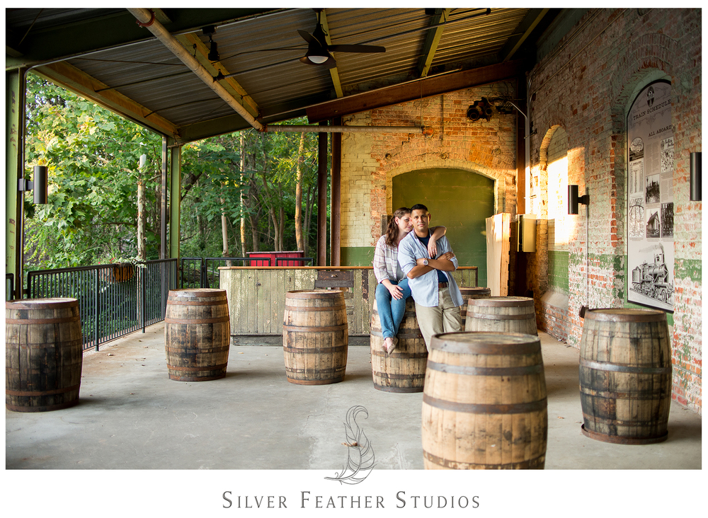 Belt Line Station Engagement by Durham wedding videographers, Silver Feather Studios.
