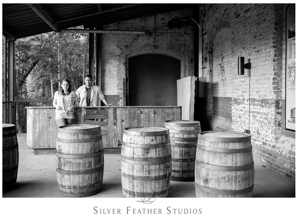 urban industrial engagement session in durham, filmed and photographed by silver feather studios.