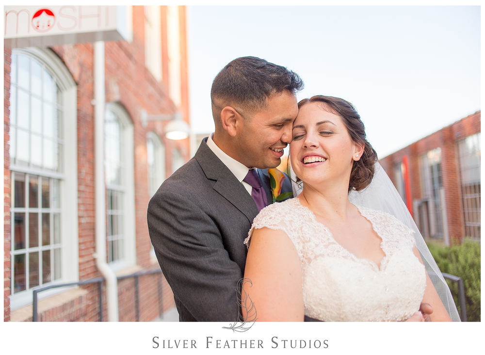 belt line station wedding, photographed by durham wedding photographer, silver feather studios.