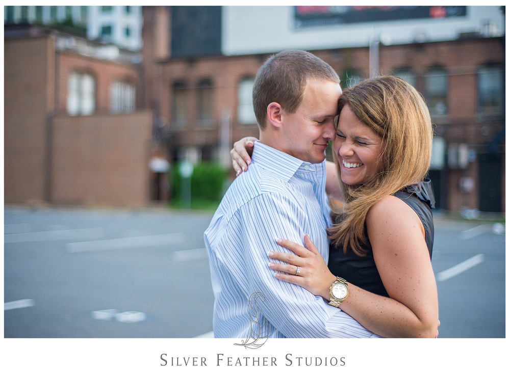 Laughter and sweetness from Addison and Ashley in Uptown Charlotte.