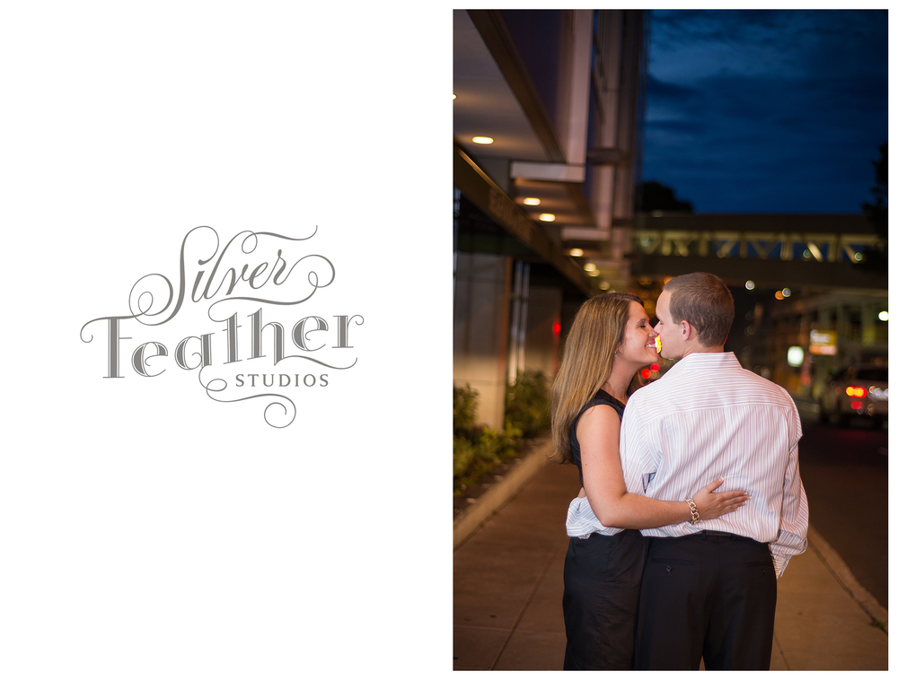 uptown charlotte engagement photography by Silver Feather Studios