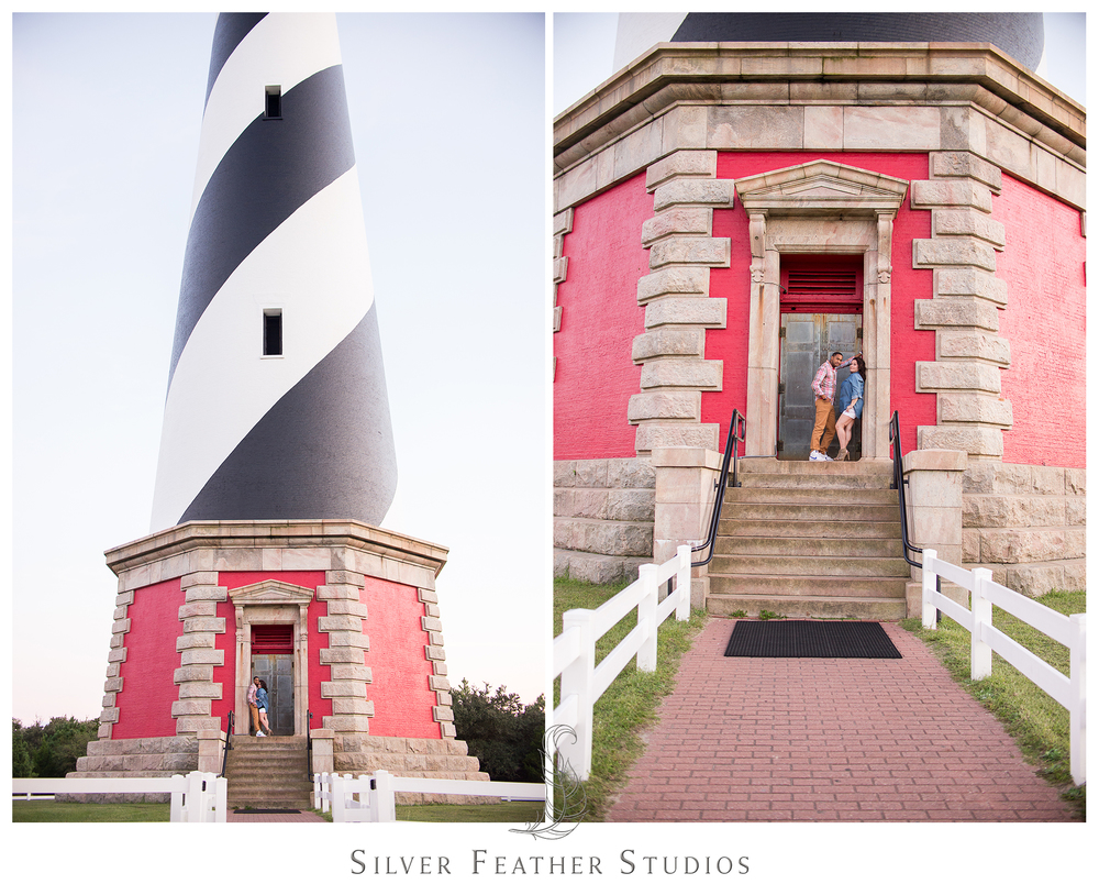 Beautiful black and white stripe north carolina light house, Cape Hatteras.