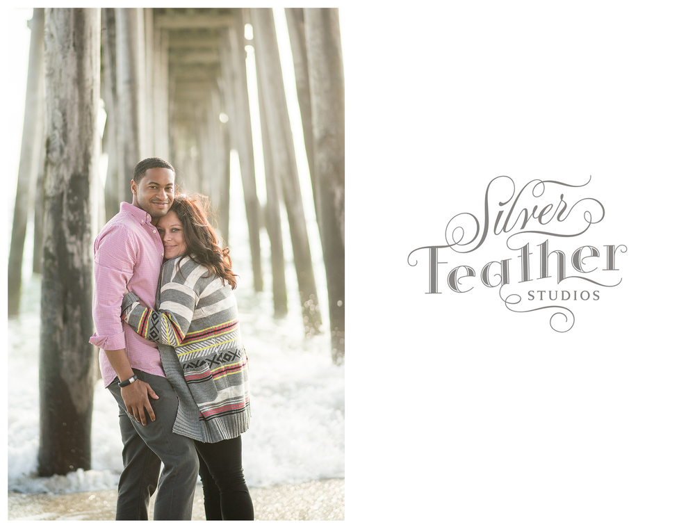 Silver Feather Studios photographs Kim and Wally beneath the Rodanthe Pier on the Outer Banks.
