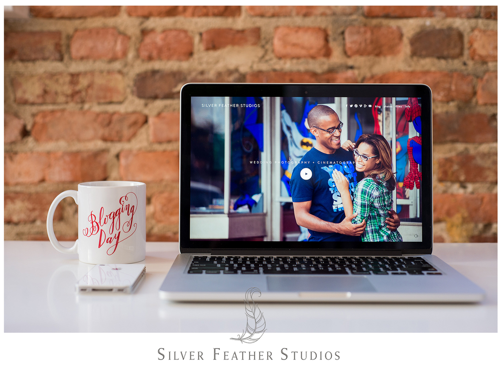 Website and blog for  Silver Feather Studios, a  Burlington, North Carolina wedding photography company.