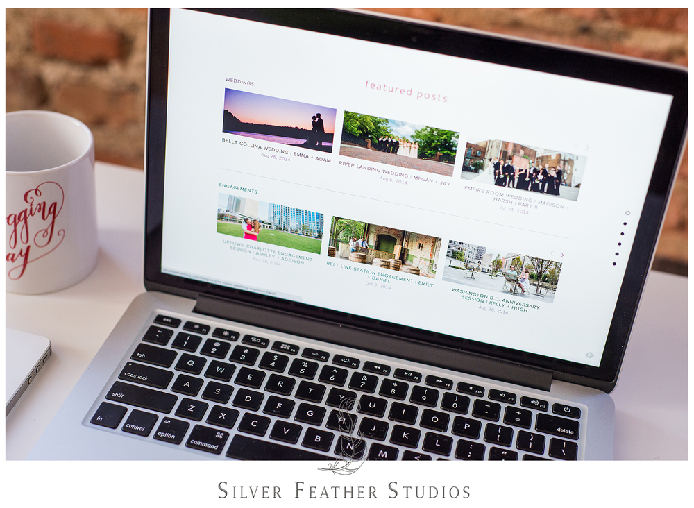 Updated featured section for Silver Feather Studios, Greensboro wedding photographers.