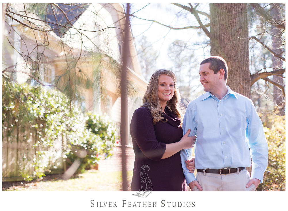 Engagement session in Raleigh NC by Burlington wedding photographer, Silver Feather Studios.