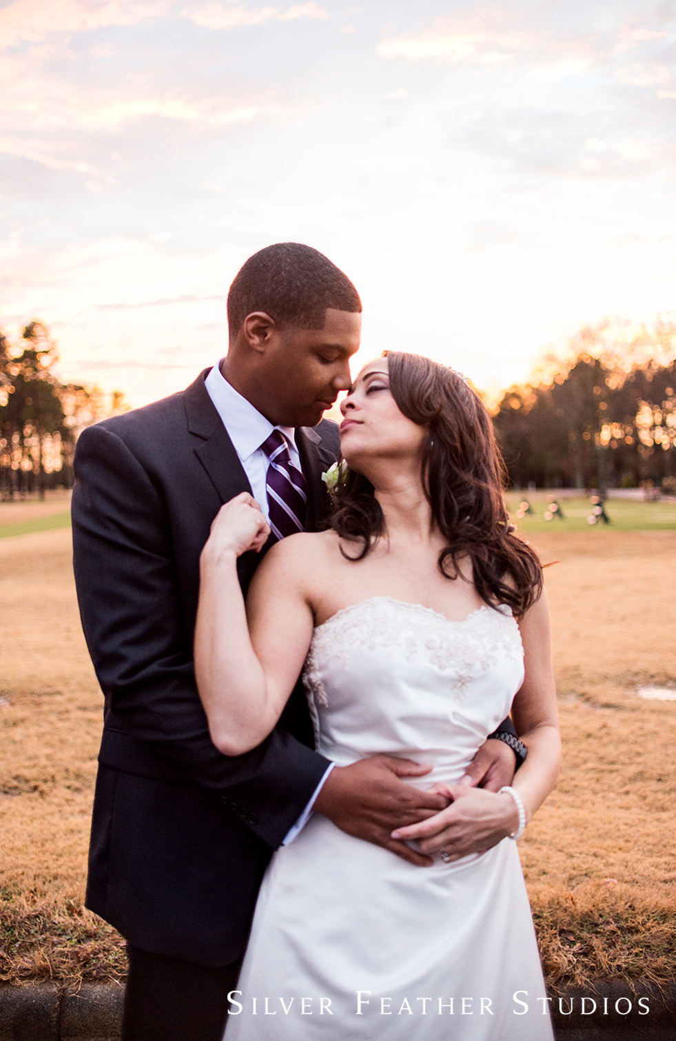 Marcellus & Lisa's Bryan Park Golf Center Wedding by Greensboro wedding photographer.
