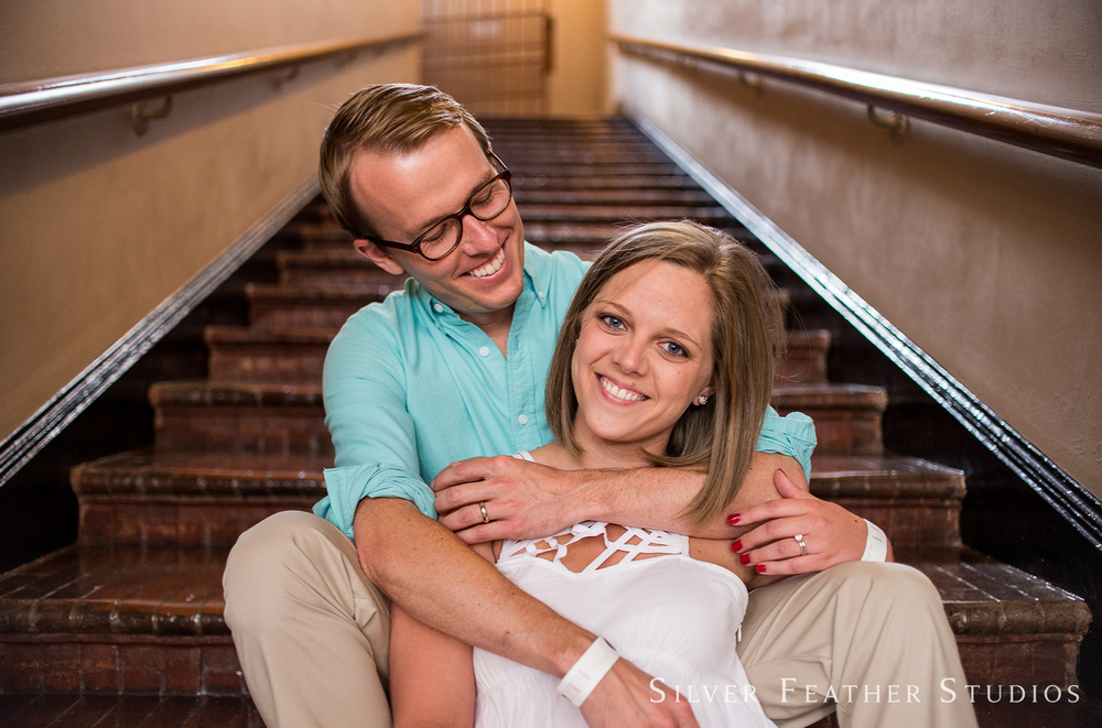 Kelly and Hugh's Washington DC engagement session by Burlington nc wedding photographer.