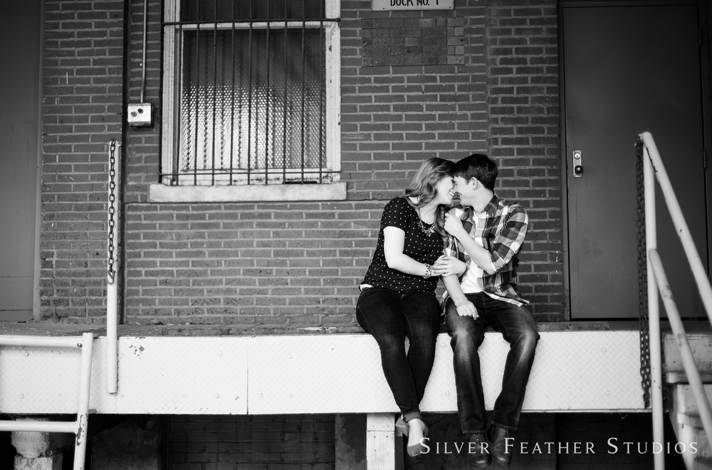 Brittany and Ben's downtown winston salem engagement by winston salem wedding photographer