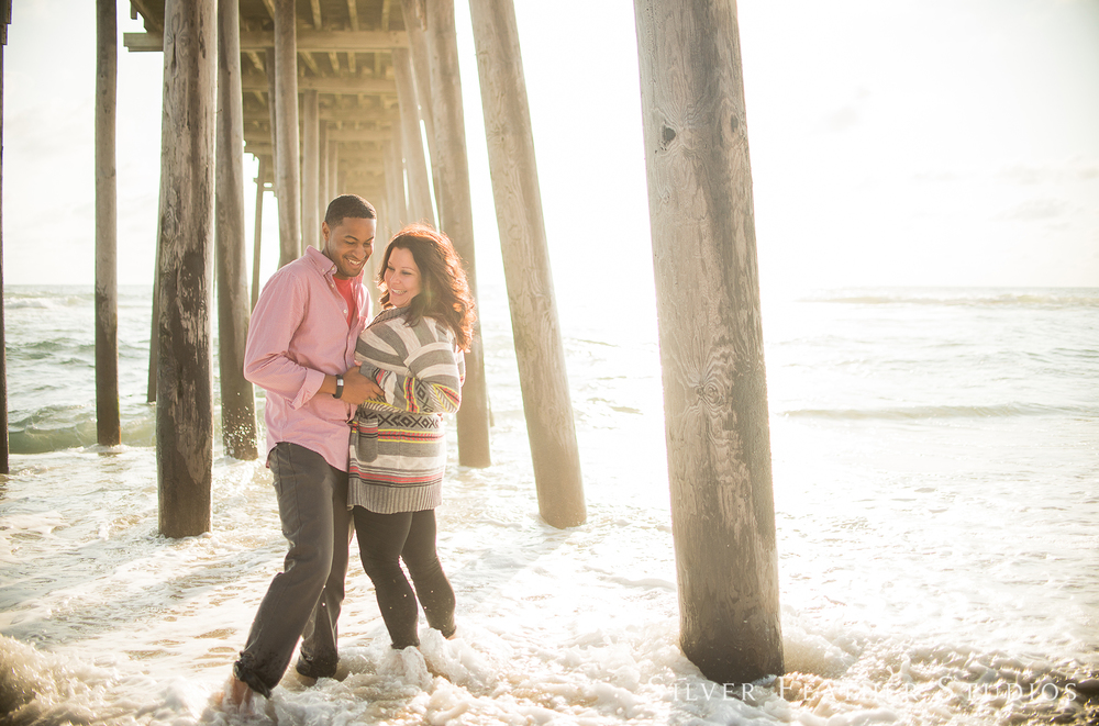 kim and wally's outer banks engagement session by wedding photographer in burlington, nc.