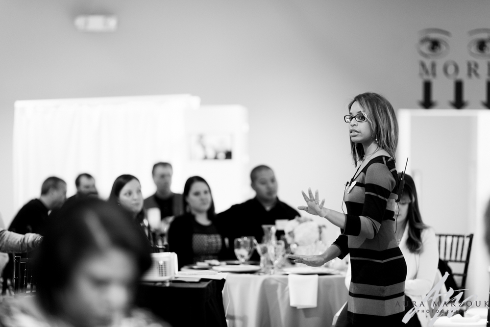 Social media and branding seminar at Villa de L'Amour by Ariana Watts of Silver Feather Studios.