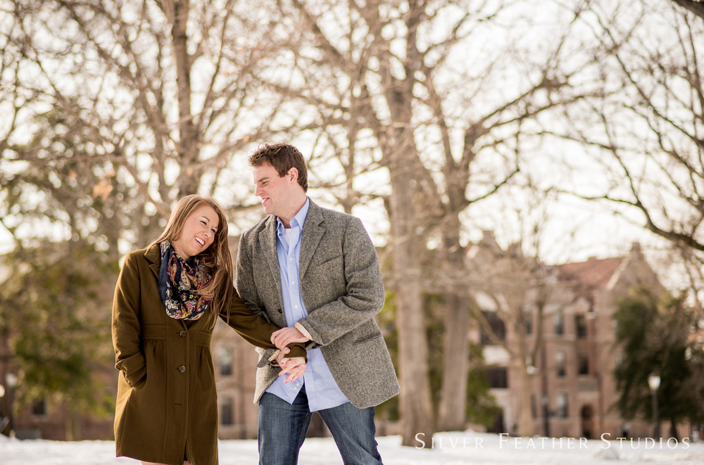 UNC Chapel Hill engagement session by Silver Feather Studios