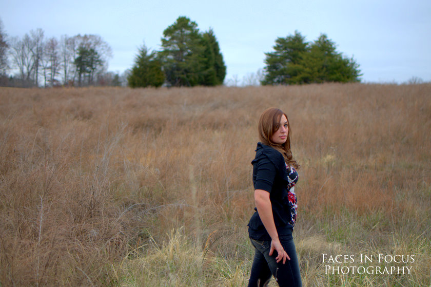 Sarah in field - Burlington NC Portrait Photographer