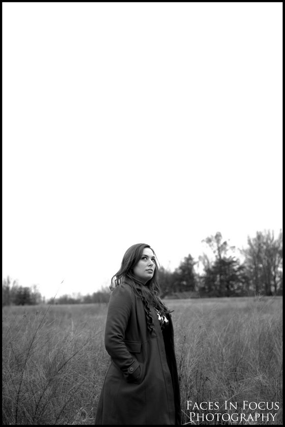 Sarah gazing into sky - Burlington NC Portrait Photographer