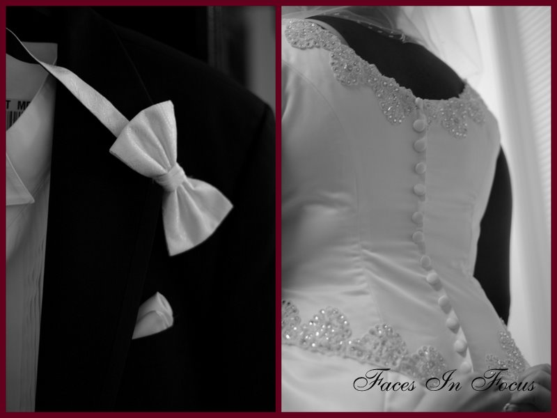 Tux and Gown Details - Greensboro Wedding Photographer