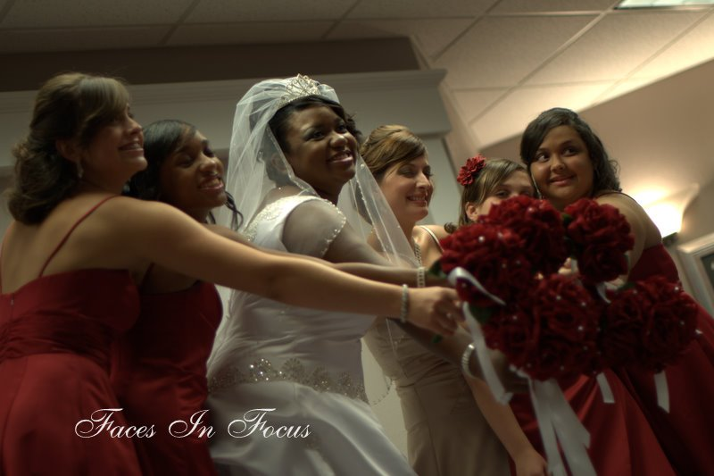 Red Silk Flowers - Greensboro Wedding