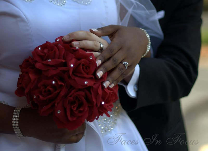 Rings and Red Roses - Greensboro Wedding Photographer