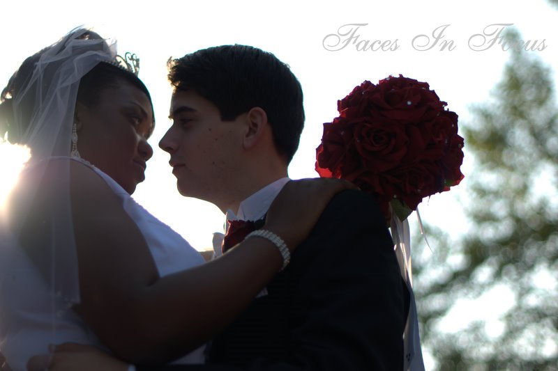 Backlit Bride and Groom - Greensboro Wedding Photographer