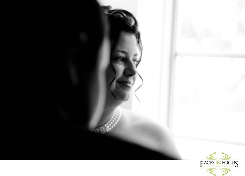 Bride gets ready at the Microtel Inn.