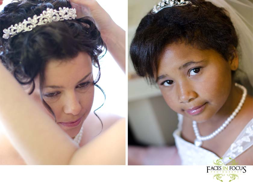 Linda and her daughter Destiny make the perfect bride & junior bride.