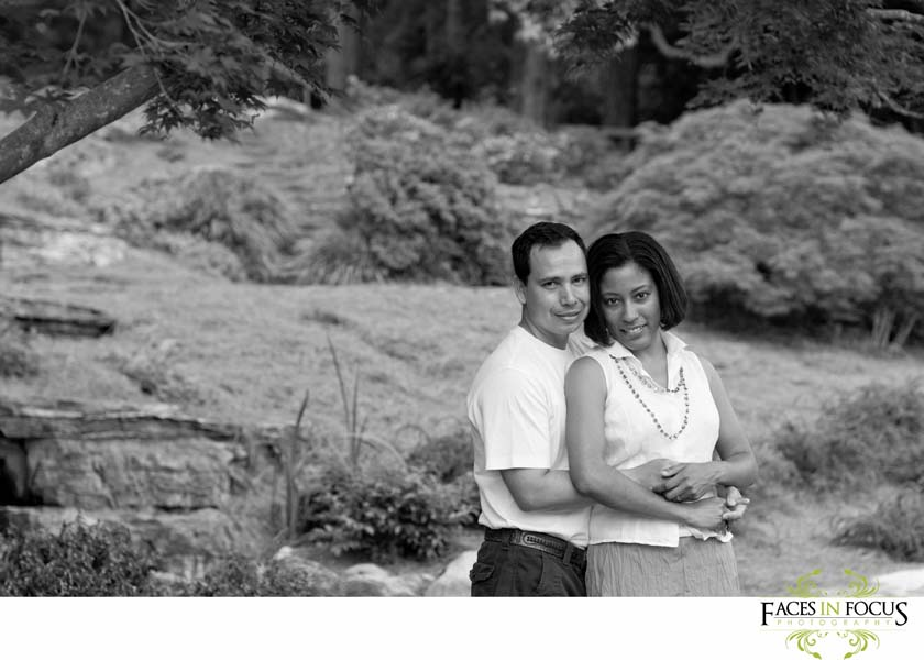 Beautiful  couple at Sarah P. Duke Gardens.